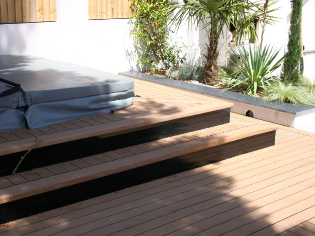 Hot Tub Decking @ Private Residence